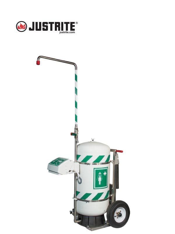 JUSTRITE 30451 EZ-Move, Portable Self-Contained Emergency Safety Shower @ Prima Dinamik