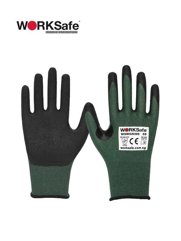 WORKSafe® Nitrile Micro Foam Palm-coated 18 Gauge Cut Level B Gloves @ Prima Dinamik