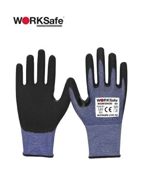 WORKSafe® Nitrile Micro Foam Palm-coated 13 Gauge Cut Level C Gloves @ Prima Dinamik