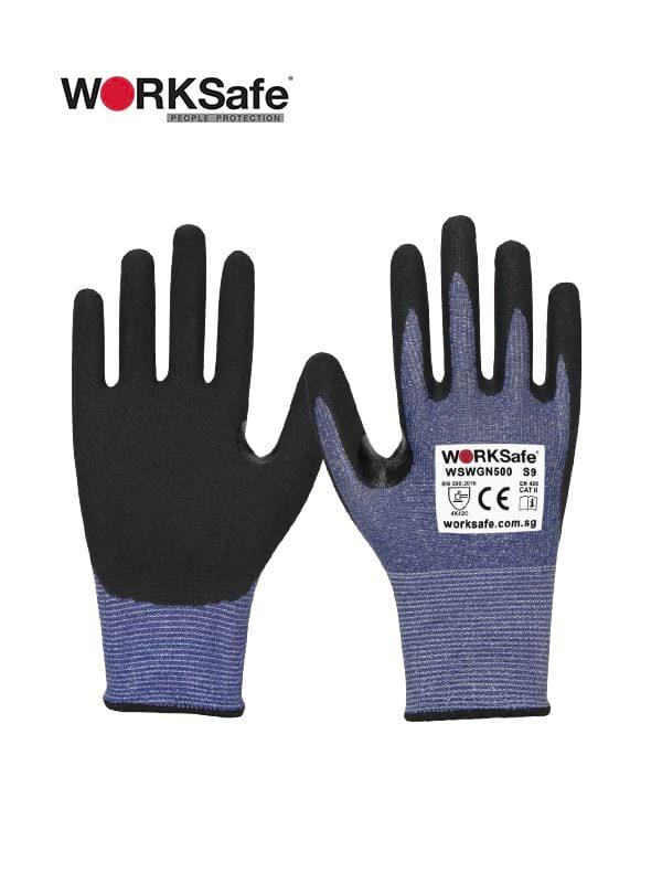WORKSafe® Nitrile Micro Foam Palm-coated 13 Gauge Cut Level C Gloves @ Prima Dinamik