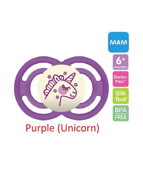 Mam Perfect Night Pacifier (6 Months+) Purple Unicorn