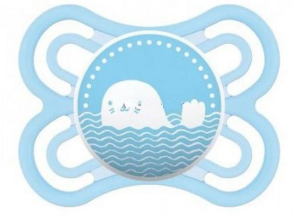 Mam Perfect Newborn Pacifier (0 Months+) Light Blue Whale