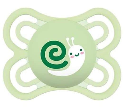 Mam Perfect Newborn Pacifier (0 Months+) Green Snail