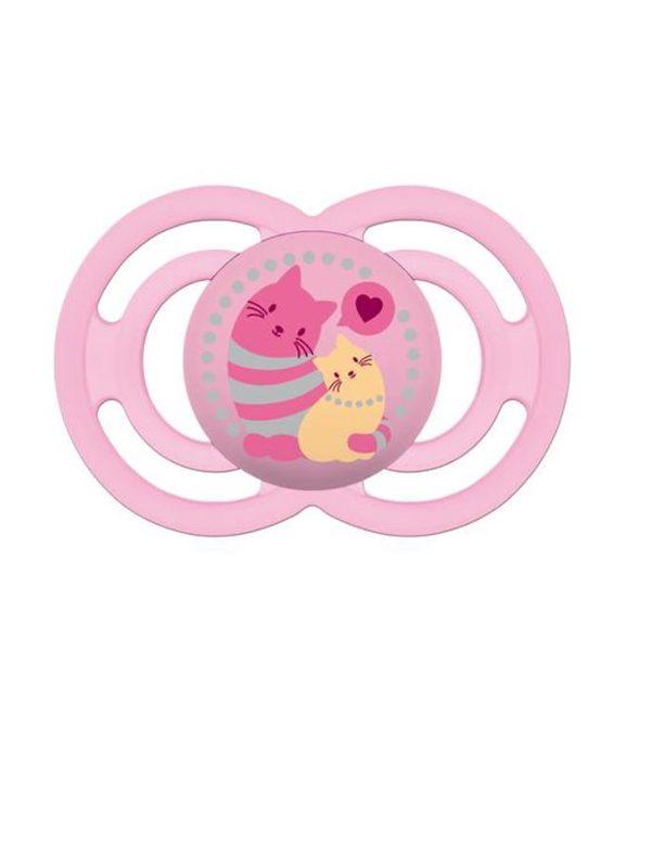 MAM Perfect Pacifier (6+ months) Pink Cat