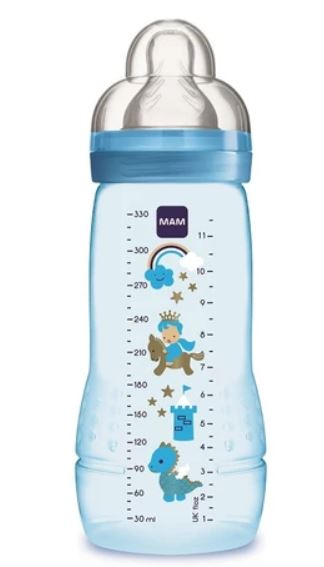 Mam Easy Active Baby Bottle (330ml) - Blue