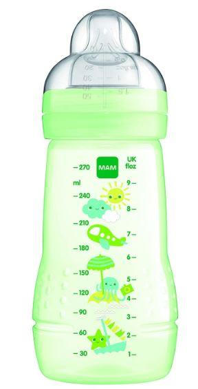 Mam Easy Active Baby Bottle (270ml) - Green