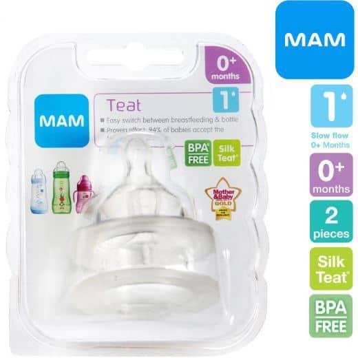 Mam Teats | Size 1 | 2 Pieces | 0+Months