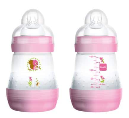 MAM EASY ACTIVE ANTI-COLIC BABY BOTTLE (160ML X2) - Pink