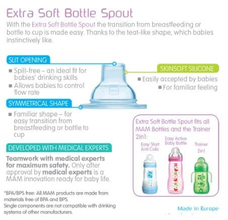 Mam Teats Extra Soft Bottle Spouts (4+Months)