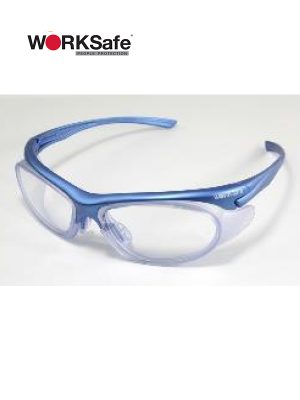 Blue Frame WORKSafe® URANUS E3060 Safety Eyewear - Prima Dinamik Safety Eyewear Distributor